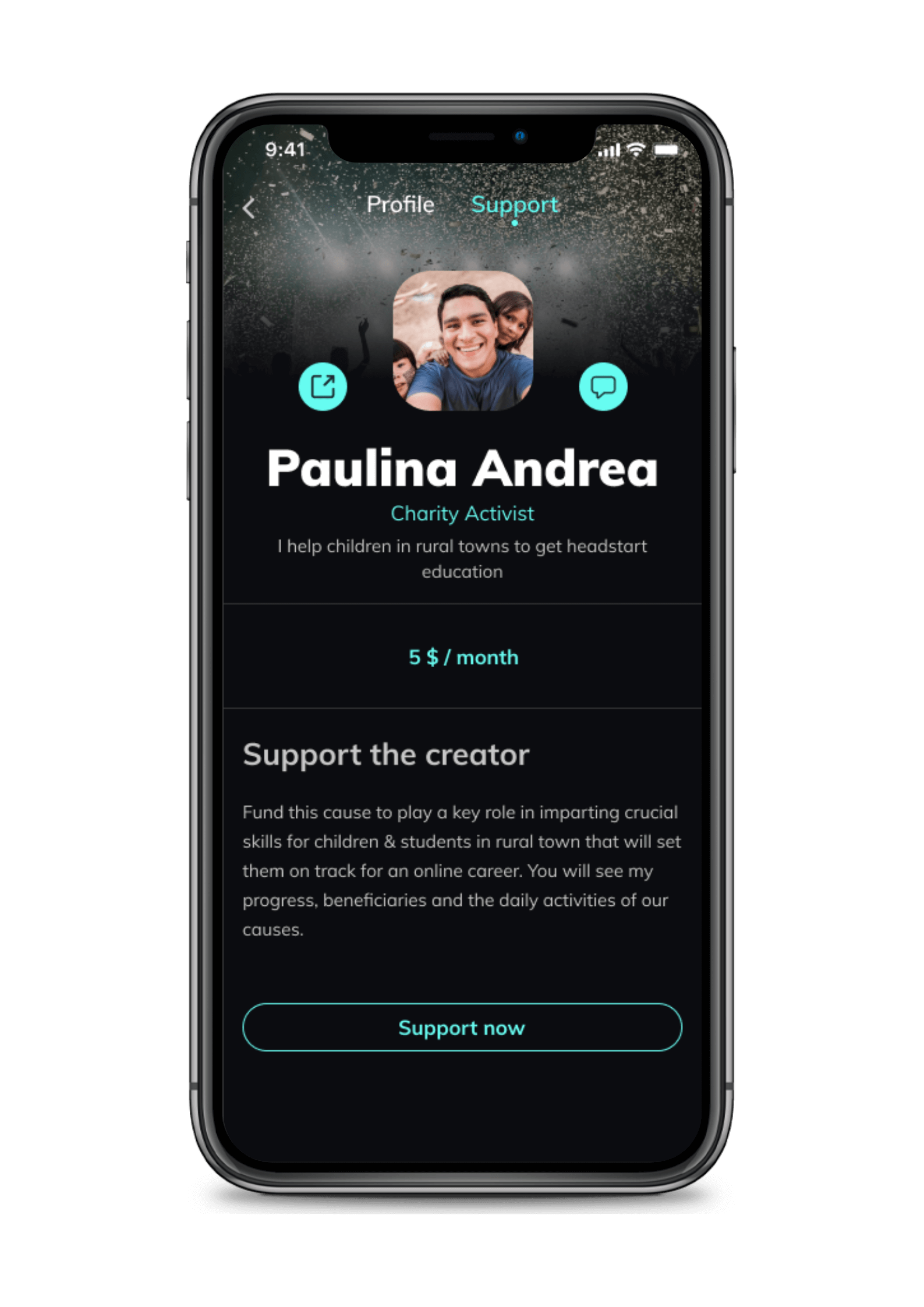 The Backstage App Support The Creator
