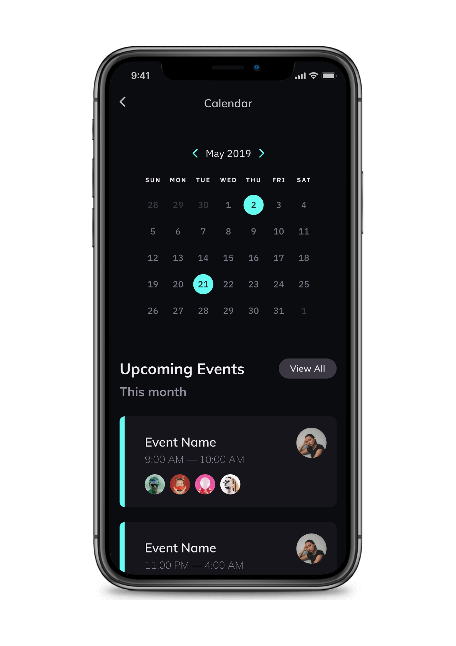 The Backstage App Upcoming Events
